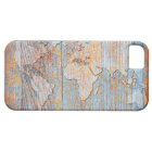 Artistic wooden world map iPhone SE/5/5s case