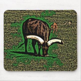 Artistic yak mousepad