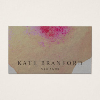 Artistic Yellow Gold Watercolor Large Floral Art Business Card