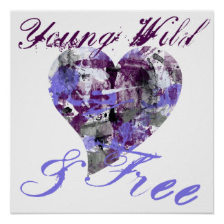 Artistic Young Wild and Free girl Poster