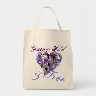 Artistic Young Wild and Free girl Tote Bag
