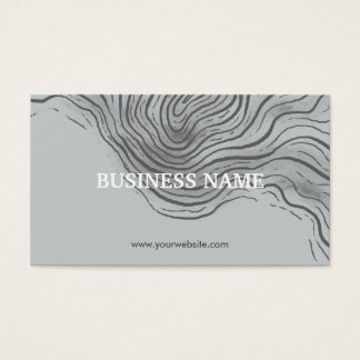 Artistic Zen Swirl Business Cards