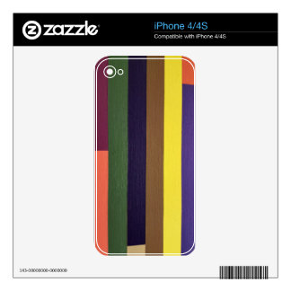 Artistically Designed Masculine Strips of Color iPhone 4S Skins