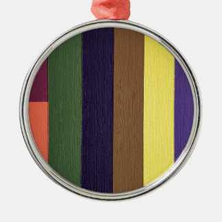 Artistically Designed Masculine Strips of Color Metal Ornament