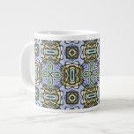Artístico abstracto geométrico del damasco tribal  tazas jumbo