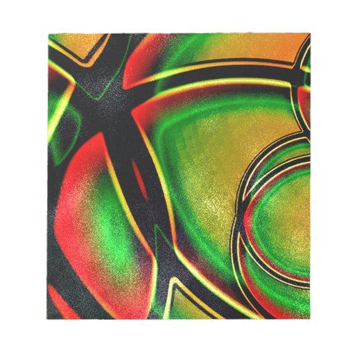 Artístico abstracto multicolor libreta para notas
