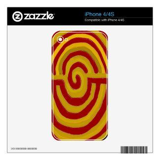 Artístico puro - símbolo de REIKI Karuna Calcomanía Para El iPhone 4