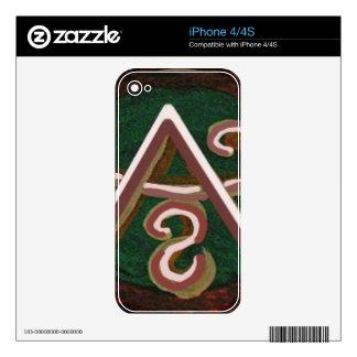 Artístico puro - símbolo de REIKI Karuna Calcomanías Para El iPhone 4S
