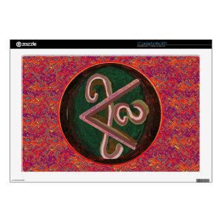Artístico puro - símbolo de REIKI Karuna Calcomanías Para Portátiles