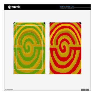Artístico puro - símbolo de REIKI Karuna Skins Para Kindle Fire