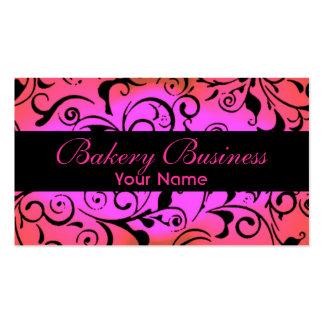 Artístico se descoloran las tarjetas rosadas de la plantillas de tarjeta de negocio