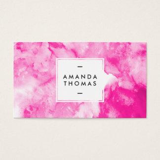 Artísticos modernos abstractos rosados de neón de tarjetas de visita
