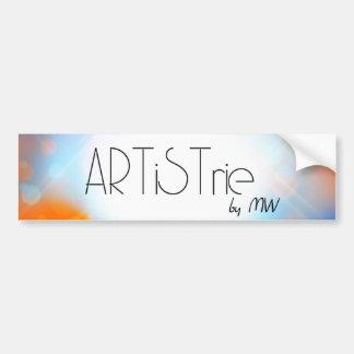 ARTiSTrie por MW LogoSticker Pegatina De Parachoque