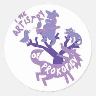 Artistry of Prokofiev Classic Round Sticker