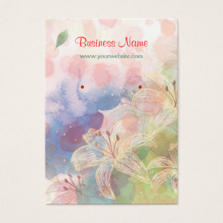 Artistry Watercolor Floral Painting Earring Cards
