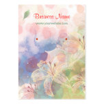 Artistry Watercolor Floral Painting Earring Cards Business Card Template
