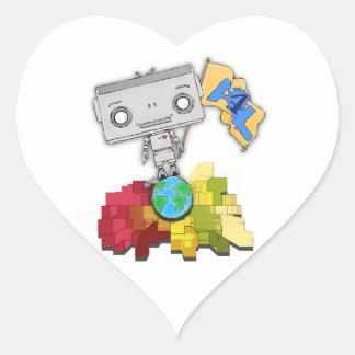 Artists 4 Life Robot Heart Sticker