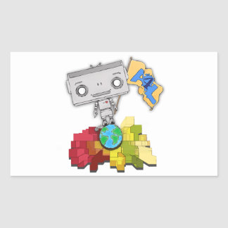 Artists 4 Life Robot Rectangular Stickers