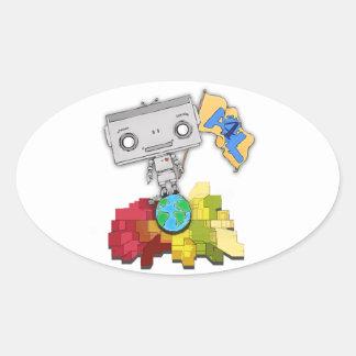 Artists 4 Life Robot Oval Sticker