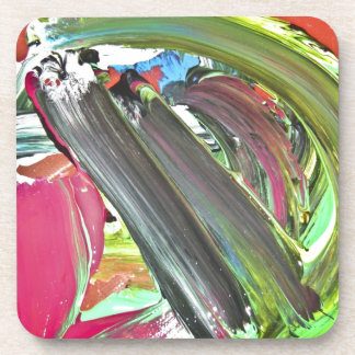 Artists abstract oil painting drink coaster