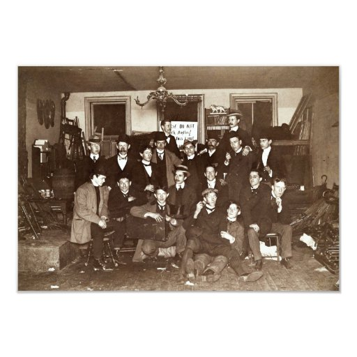 Artists and Friends of John French Sloan in Studio Card