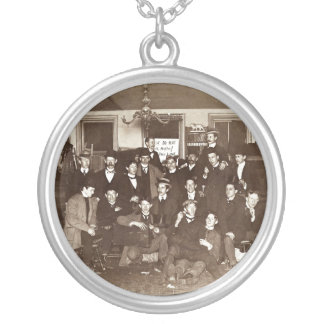 Artists and Friends of John French Sloan in Studio Round Pendant Necklace