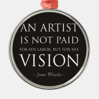 Artists Are Not Paid For Labor, But Vision Metal Ornament
