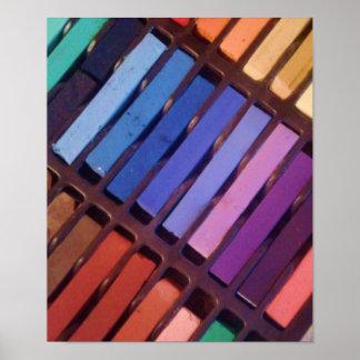 Artist's Color Pastels Poster