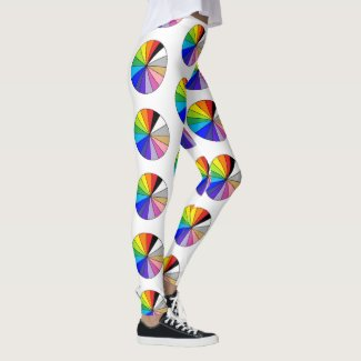 Artists Color Wheel by EelKat Leggings