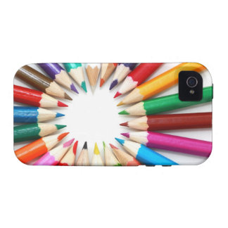 Artist's colored pencils rainbow graphic photo 4S iPhone 4/4S Cases