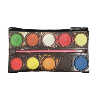 Artist's colorful paint color box cosmetics bags