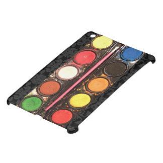 Artist's colorful paint color box iPad mini cases