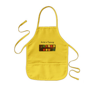 Artist's colorful paint color box kids' apron