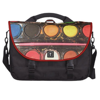 Artist's colorful paint color box bag for laptop