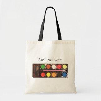 Artist's colorful paint color box tote bag