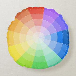 Artists Colorwheel Round Pillow