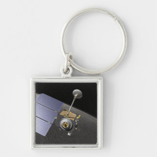 Artist's concept 9 Silver-Colored square keychain