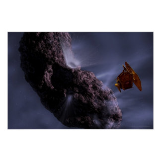 Artist's Concept Deep Impact with Comet 30x20 (28x Poster