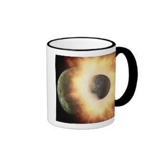 Artist's concept of a celestial body ringer coffee mug
