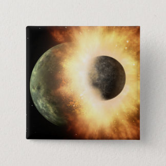Artist's concept of a celestial body pinback button