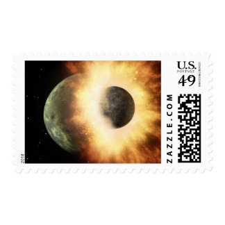 Artist's concept of a celestial body postage stamps