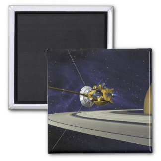 Artists concept of Cassini 2 Inch Square Magnet