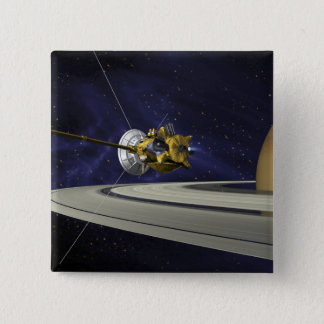 Artists concept of Cassini Pinback Button