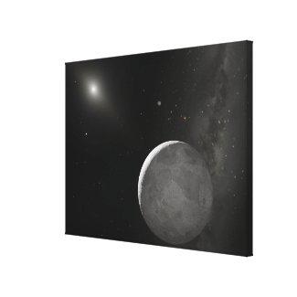 Artist's concept of Kuiper Belt object Canvas Print