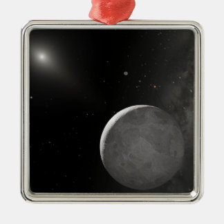 Artist's concept of Kuiper Belt object Square Metal Christmas Ornament