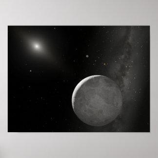 Artist's concept of Kuiper Belt object Poster