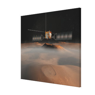 Artist's concept of Mars Express spacecraft Canvas Print