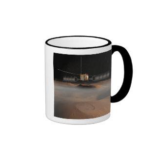 Artist's concept of Mars Express spacecraft Ringer Coffee Mug