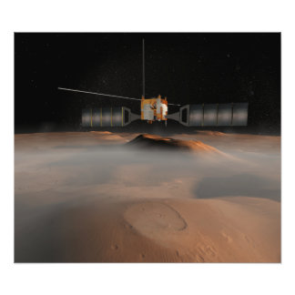 Artist's concept of Mars Express spacecraft Photo Print