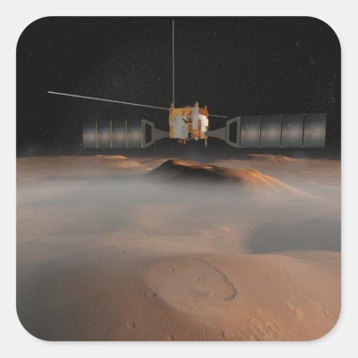 Artist's concept of Mars Express spacecraft Sticker
